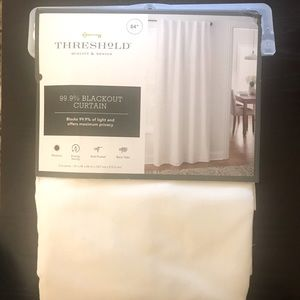 """(5) Threshold white """"black out""""curtains 84x50"""